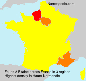 Surname Bitaine in France