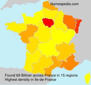 Surname Bittner in France