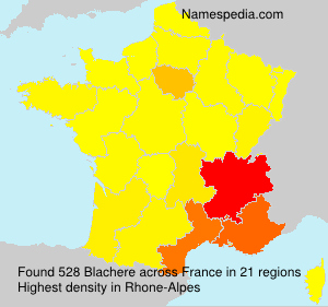 Surname Blachere in France