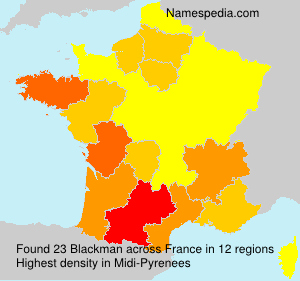 Surname Blackman in France