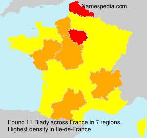Familiennamen Blady - France