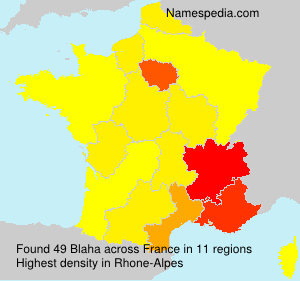 Surname Blaha in France
