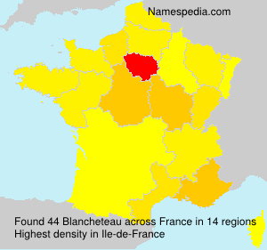 Surname Blancheteau in France