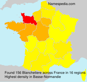 Surname Blanchetiere in France