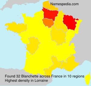 Familiennamen Blanchette - France