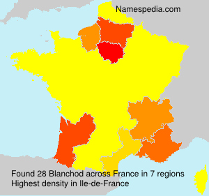 Surname Blanchod in France