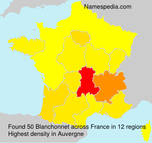 Surname Blanchonnet in France