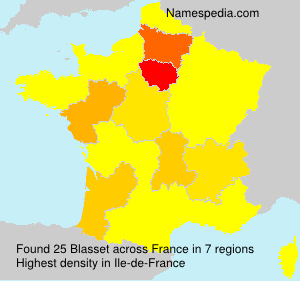 Surname Blasset in France