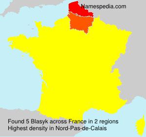 Surname Blasyk in France