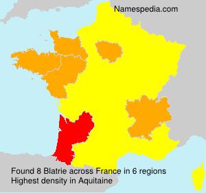 Surname Blatrie in France