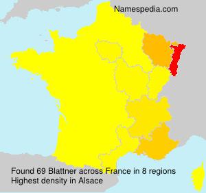 Familiennamen Blattner - France