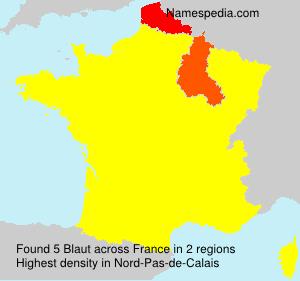 Familiennamen Blaut - France