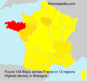 Surname Blayo in France