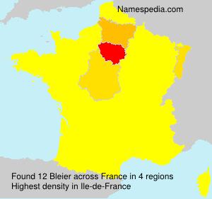 Surname Bleier in France