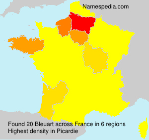 Surname Bleuart in France