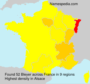 Surname Bleyer in France