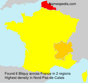 Surname Bliquy in France