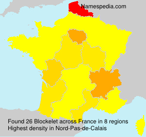 Surname Blockelet in France