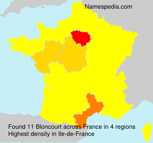 Surname Bloncourt in France
