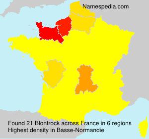 Surname Blontrock in France