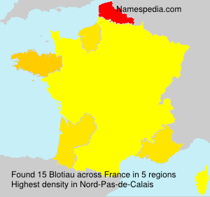 Surname Blotiau in France