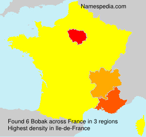 Surname Bobak in France