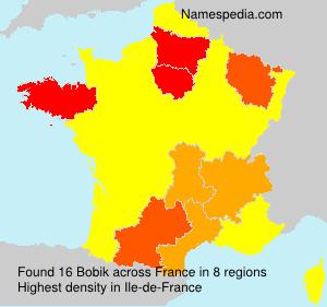 Surname Bobik in France