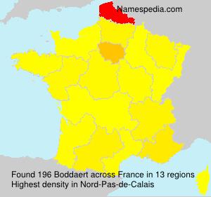 Surname Boddaert in France