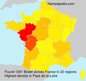 Surname Bodet in France