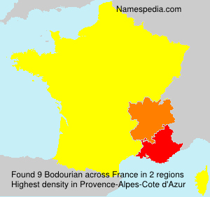 Surname Bodourian in France