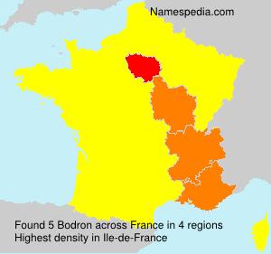 Familiennamen Bodron - France