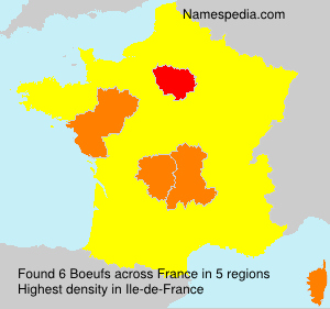 Surname Boeufs in France
