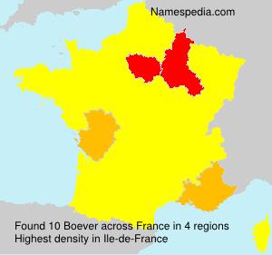 Surname Boever in France