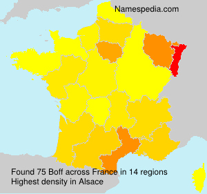 Surname Boff in France