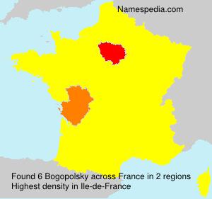 Familiennamen Bogopolsky - France
