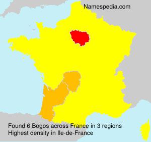 Surname Bogos in France