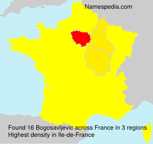 Surname Bogosavljevic in France