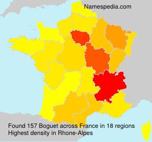 Familiennamen Boguet - France