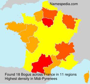 Familiennamen Bogus - France