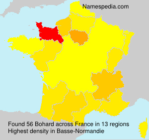 Surname Bohard in France