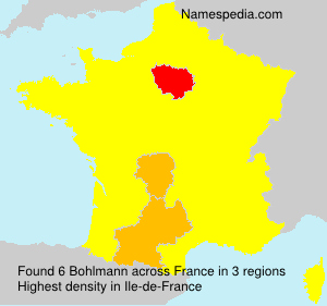 Surname Bohlmann in France