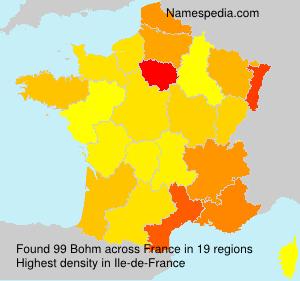 Surname Bohm in France
