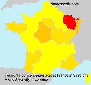 Surname Bohnenberger in France