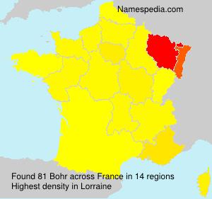 Familiennamen Bohr - France