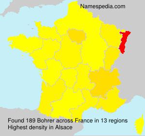Surname Bohrer in France