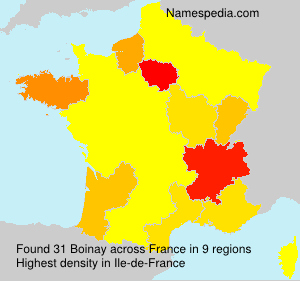 Surname Boinay in France
