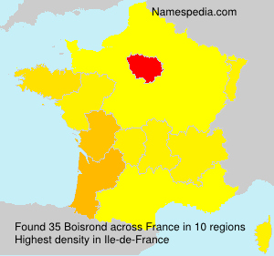 Surname Boisrond in France