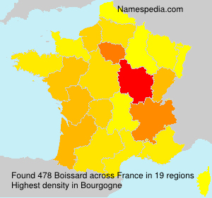 Surname Boissard in France