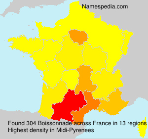 Surname Boissonnade in France