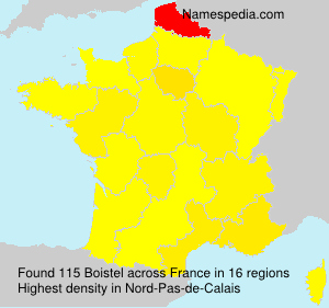 Surname Boistel in France